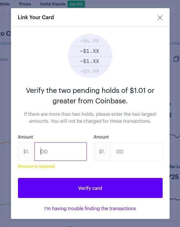 Verify Coinbase Deposits