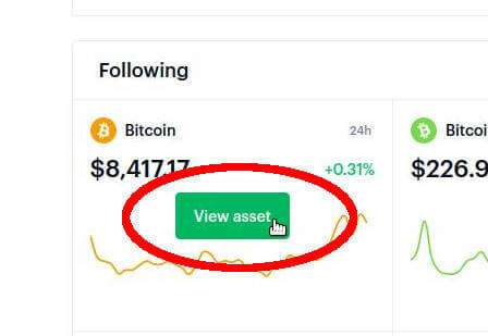 View Assets Coinbase