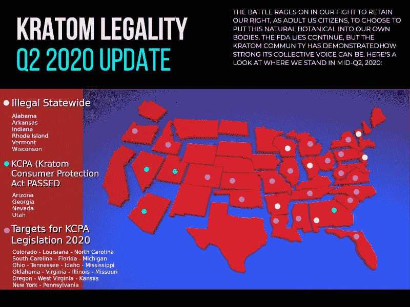 Kratom Legality Map | Socratic Solutions