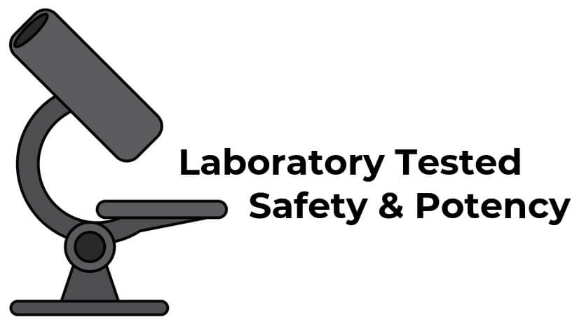 Laborary Tested For Safety & Potency